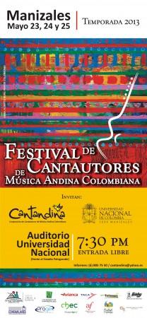 afiche cantandina manizales en 2013