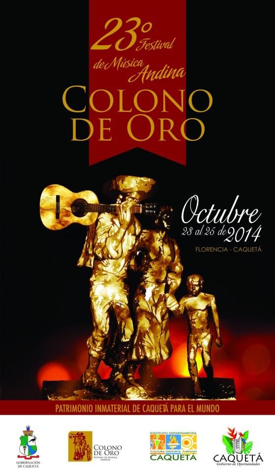 Afiche Festival Colono de Oro  2014