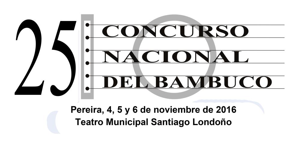 LOGO 25 CONCURSO NAL. DEL BAMBUCO fechas